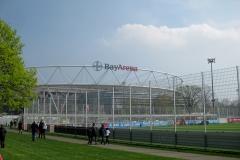 Abschluss Fußball Camp Bundesligaspiel Leverkusen gegen Frankfurt 14.04.18